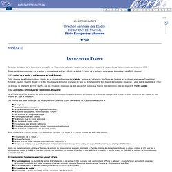 Les sectes en France - ANNEXE II - LES SECTES EN EUROPE
