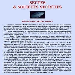 Sectes & Sociétés secrètes