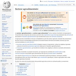 Secteur agroalimentaire
