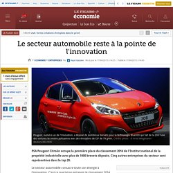 Le secteur automobile reste à la pointe de l'innovation