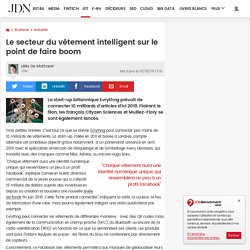 Le secteur du vêtement intelligent sur le point de faire boom