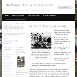 Section 3: Place and Identity - The People, Place, and Space Reader
