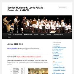 Section Musique du Lycée Félix le Dantec de LANNION