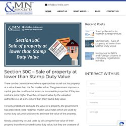 Section 50C - Sale of property at lower than Stamp Duty Value