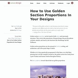 How to Use Golden Section Proportions In Your Designs