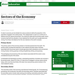 Sectors of the Economy (Five Categories)