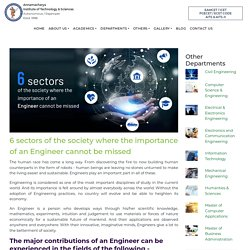 6 sectors of the society where the importance of an Engineer cannot be missed