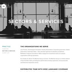 Sectors & Services — The Meehan Group