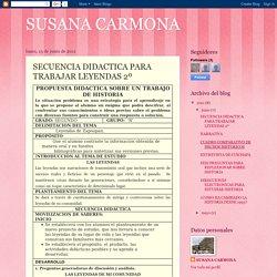 SUSANA CARMONA: SECUENCIA DIDACTICA PARA TRABAJAR LEYENDAS 2º