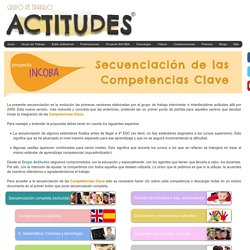 Grupo Actitudes - Secuenciación de las Competencias Básicas