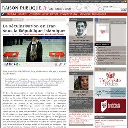 La sécularisation en Iran sous la République islamique