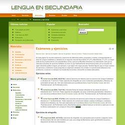 Lengua en Secundaria - Exámenes y ejercicios