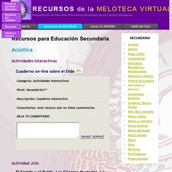 Secundaria - Meloteca Virtual