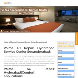 Voltas AC Repair Hyderabad Service Center Secunderabad - Home Appliances Service Center : Washing Machine