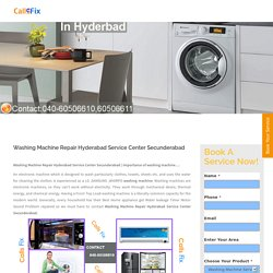 Washing Machine Repair Hyderabad Service Center Secunderabad - Home Appliances Service Center : Washing Machine