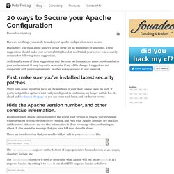 20 ways to Secure your Apache Configuration