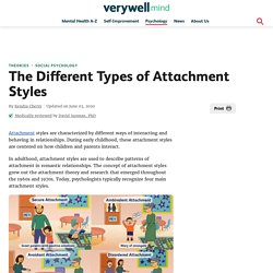 The Different types of Attachment Styles