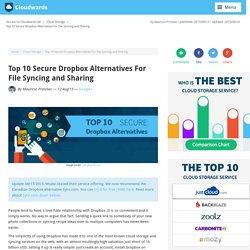 Top 10 Secure Dropbox Alternatives