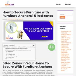 How to Secure Furniture with Furniture Anchors