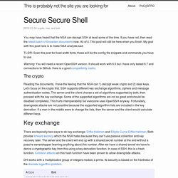 Secure Secure Shell