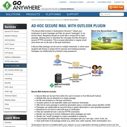 Ad-Hoc Secure File Transfer with Outlook Plugin