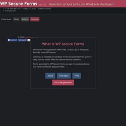 WP Secure Forms - Wordpress Ajax Forms Generator