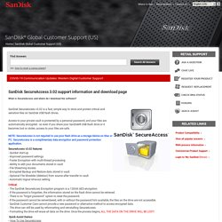SanDisk SecureAccess 3.02 support information and download page