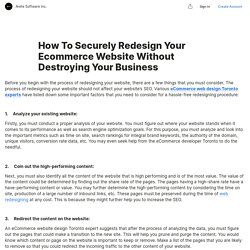 How To Securely Redesign Your Ecommerce Website Without Destroying Your Business
