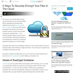 5 Ways To Securely Encrypt Your Files In The Cloud