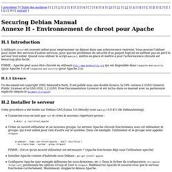Manuel de sécurisation de Debian - Environnement de chroot pour Apache
