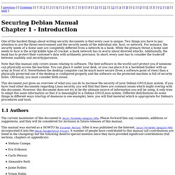 Securing Debian Manual - Introduction