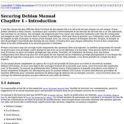 Manuel de sécurisation de Debian - Introduction