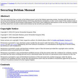 Securing Debian Manual