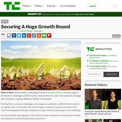 Securing A Huge Growth Round