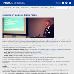 Securing an Inclusive Digital Future