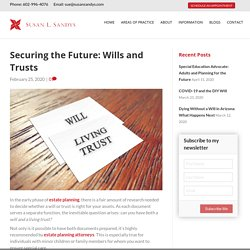 Securing the Future: Wills and Trusts