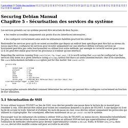 Manuel de sécurisation de Debian - Sécuriser les services de votre système