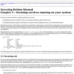 Securing Debian Manual - Securing services running on your system