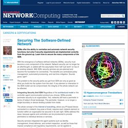 Securing The Software-Defined Network