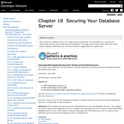 Securing Your Database Server