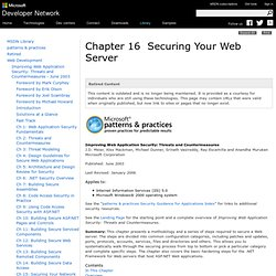 Securing Your Web Server
