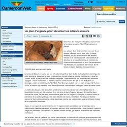 Un plan d'urgence pour sécuriser les artisans miniers