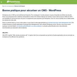 Bonne pratique pour sécuriser un CMS - WordPress - Base de connaissances