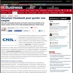 Sécuriser Facebook pour garder son emploi