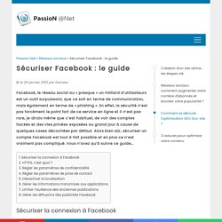 Sécuriser Facebook : le guide
