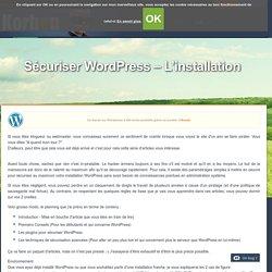 Sécuriser Wordpress - L'installation
