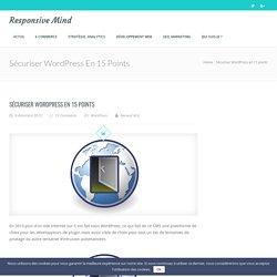 Sécuriser WordPress en 15 points