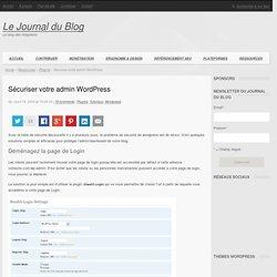Sécuriser votre admin Wordpress