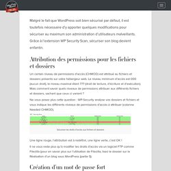 Sécuriser votre blog WordPress avec le plugin WP Security