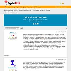 Sécurité achat deep web